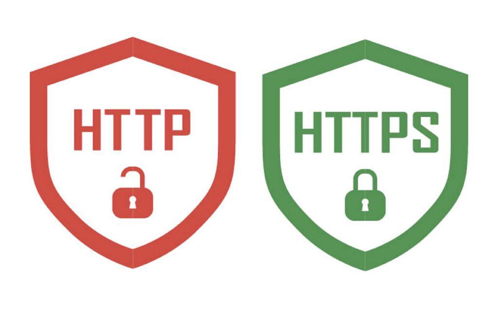 Iconos del HTTP y HTTPS que demuestra que paginas son seguras para evitar phishing