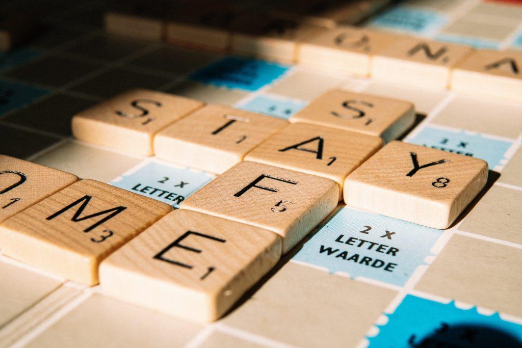 Juego de palabras (Scrabble) que podemos utilizar para crear una contraseña segura