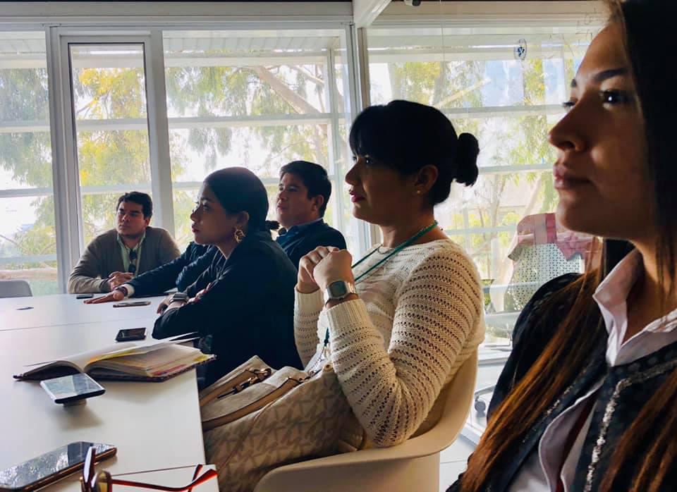 Estudiantes en ONU Habitat