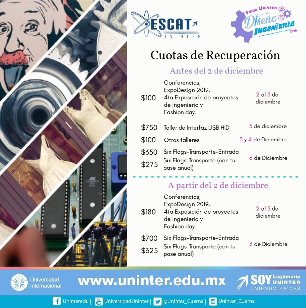 #FeriaDI19 Cuotas