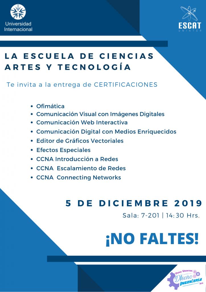 #FeriaDI19 Certificaciones
