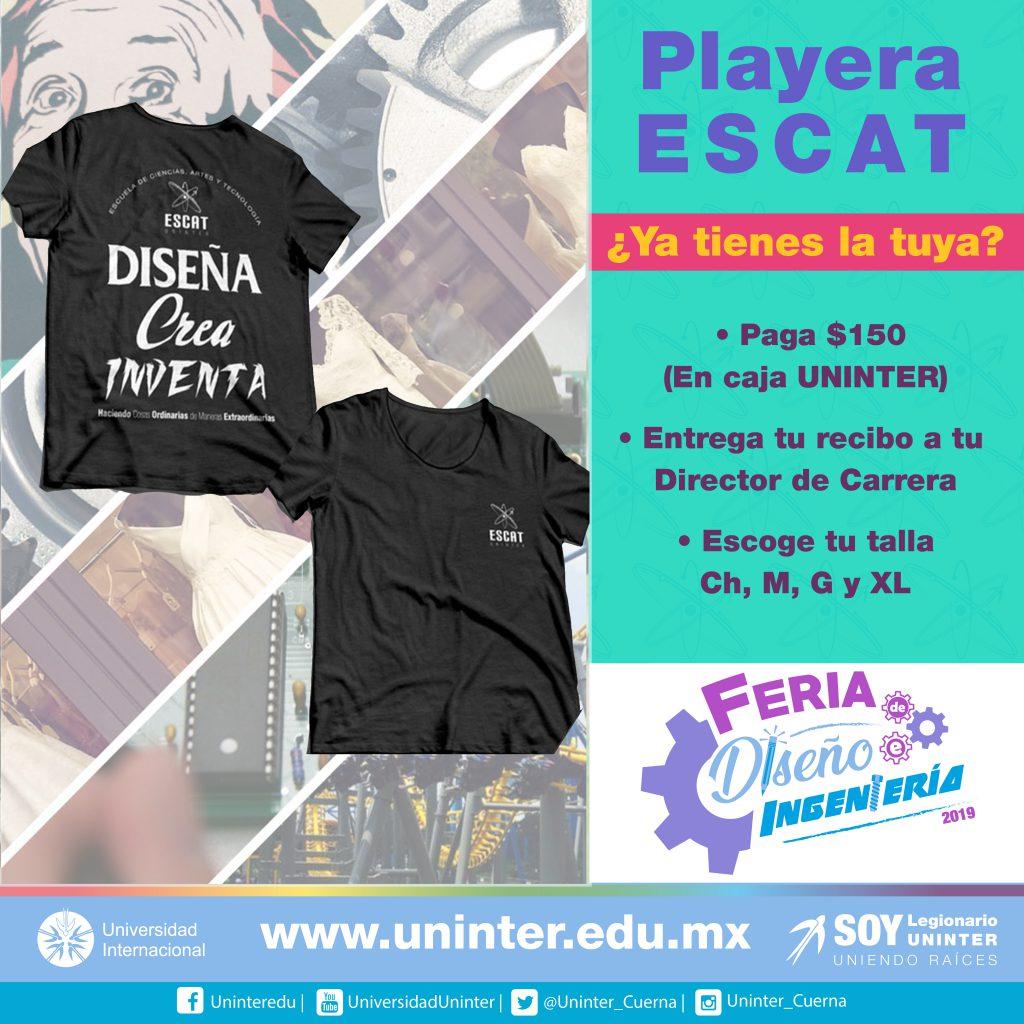 #FeriaDI19 Playera ESCAT