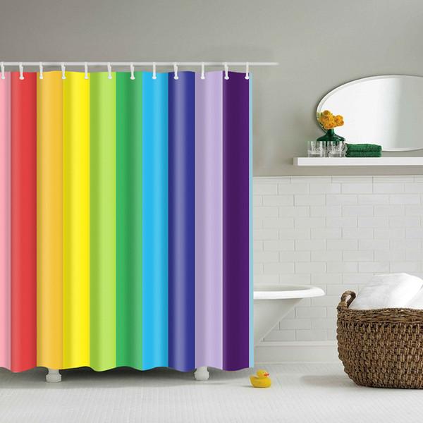 Tonos del arcoiris en baños