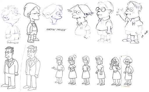 Bocetos de tus  personajes favoritos