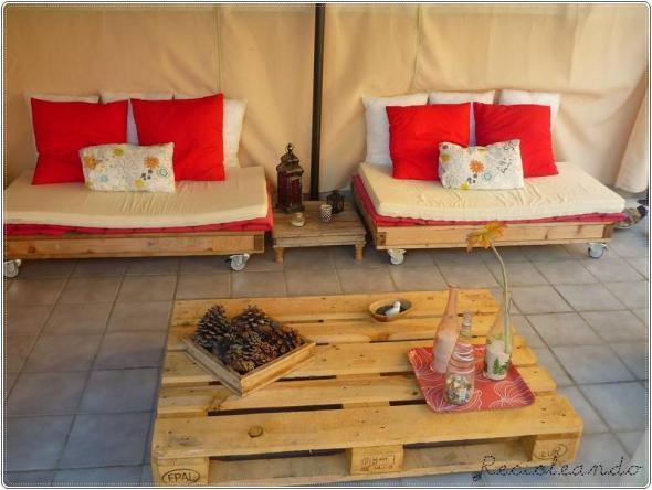 Formas de utilizar las tarimas en sillones y mesa