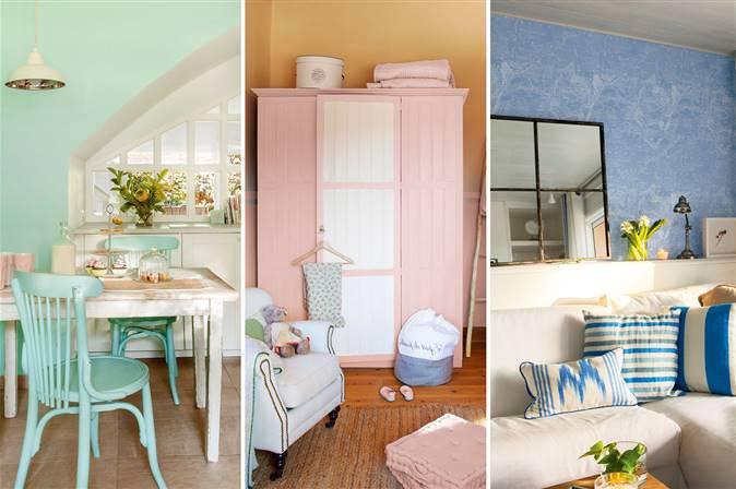 Siete ideas para decorar un dormitorio en colores pastel