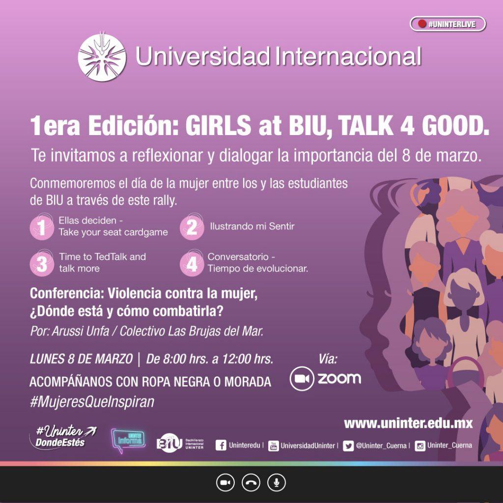 postal del evento GIRLS at BIU, TALK 4 GOOD