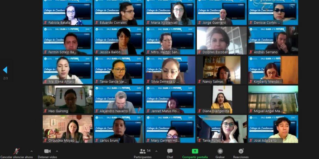 Ceremonia virtual de la entrega de reconocimientos BF@L a profesores